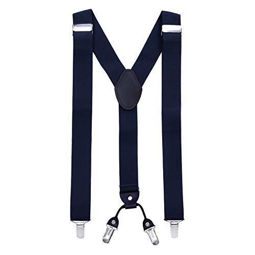 MASADA Hosenträger für Herren mit robusten Clips stufenlos verstellbar 3,5 cm breit und bis zu 195 cm Körpergröße...