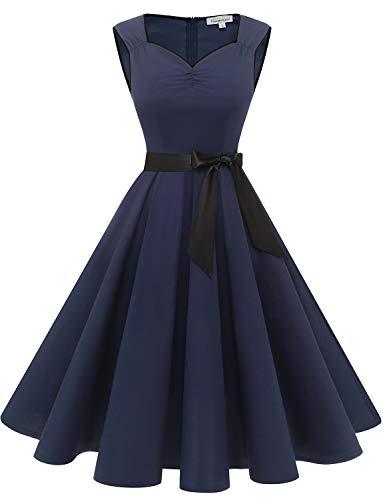 Gardenwed Vintage-Kleid, Cocktailkleid, für Damen, Ärmellos, Retro, Rockabilly, Party, Swing-Kleid, 1950er, GDQC033P...