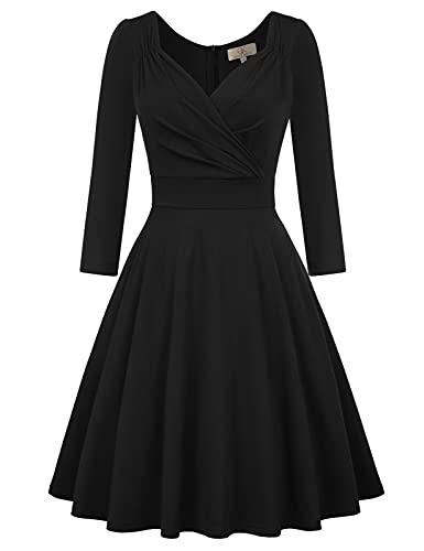 cocktailkleid v Ausschnitt Elegante Kleider Spitze Petticoat Kleid 50er Jahre Swing Kleid CL646-1 XL