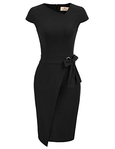 GRACE KARIN Vintage Kleider 50er Jahre Retro Kleid Winter cocktailkleid Damen CL867-1 XL