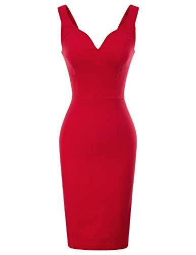 GRACE KARIN Vintage Kleider 50er Jahre Retro Kleid cocktailkleid Damen CL987-2 XL
