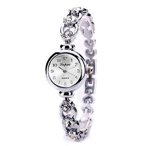Armbanduhr Damen Quarz Uhr Mode Luxus Armband Analoge Quarz Damenuhr Uhren Ultradünne Analoguhr Für Frauen, Gold...