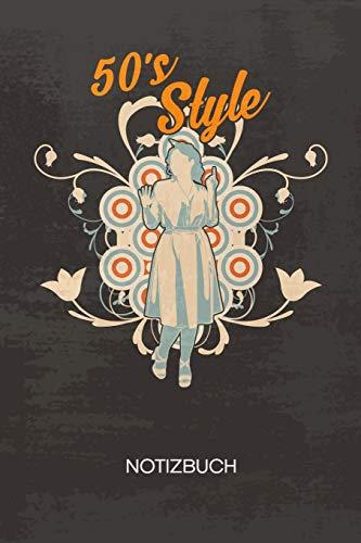 NOTIZBUCH A5 Dotted: Oldschool Fans Notizheft GEPUNKTET 120 Seiten - Petticoat Kleid Notizblock 50er Jahre Mode...