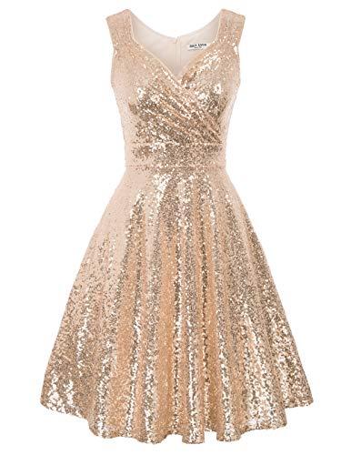 GRACE KARIN 50s Kleid Rockabilly ärmellos Partykleid Damen Vintage Kleider 50er Jahre Partykleider CL1061-2 M