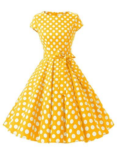 """Dressystar-Kleid """"Audrey-Hepburn"""", klassisches Retrodesign, im Stil der 50er- und 60er Jahre ohne Ärmel Gr. Medium,..."""